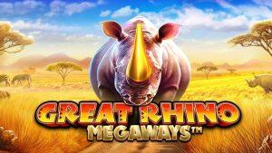 Great Rhino Megaways เกมสล็อตออนไลน์ น่าเล่น บนเว็บ SBOBET